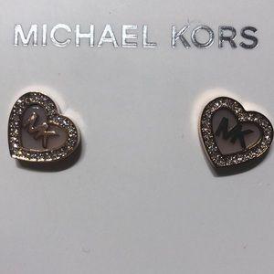 Michael Kors heart shaped earring